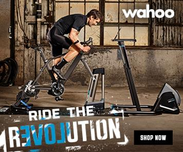 Cyclist on a Wahoo Kickr Smart trainer.