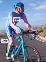 A cyclist with examples of useful bike fit measurements.