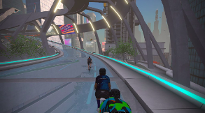A screenshot of a CPT Cycling personal coached ride on Zwift.